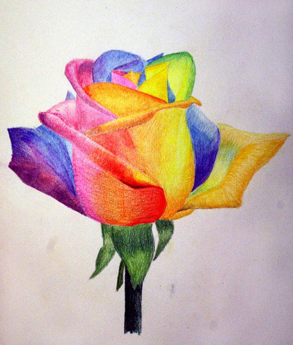 Картинки осени цв карандашами